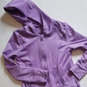 Lavendar athletic zip up hoodie